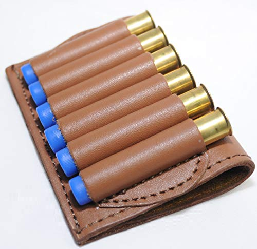 Leather Shotgun Shell Holder - Cartridge Belt (Tan, 410 Gauge)