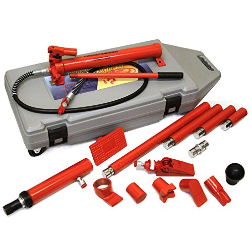 10 Ton Porta Power Hydraulic Jack Body Frame Repair Kit Auto Shop Tool (Conversion Double Pedal)