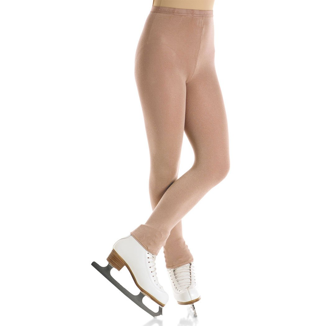 Mondor 3373 Adult Naturals Lustrous Footless Skating Tights (X-Large, Suntan) by Mondor