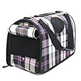 PAWZ Road Dog Soft Sided Carriers for Dog & Cat - Collapsible Pet Carry Bag Outdoor Crate Tote Ideal for Travel Walking Hiking Purple
