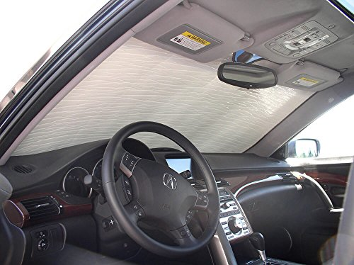 Acura Sedan Rl - The Original Windshield Sun Shade, Custom-Fit for Acura RL Sedan 2005, 2006, 2007, 2008, 2009, 2010, 2011, 2012, Silver Series