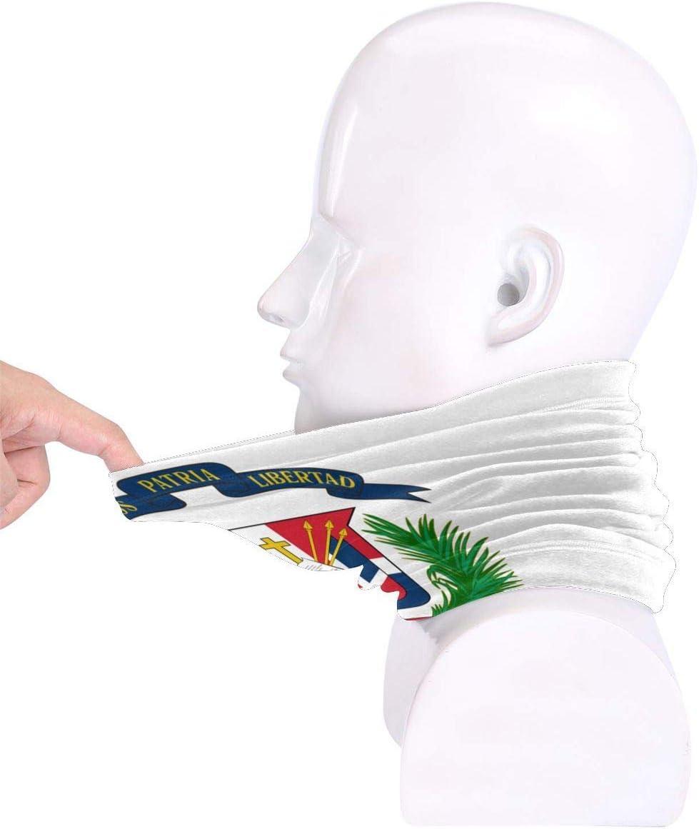Protecci/ón contra el fr/ío XXUU Escudo de Armas Rep/ública Dominicana Bandera Mascarilla Pa/ñuelos Bufanda Calentador de Cuello Diadema para Polvo Deportes al Aire Libre Sol