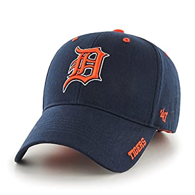 "Detroit Tigers 47 Brand MLB ""Frost MVP"" Structured Adjustable Hat - Navy"