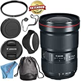 Canon EF 16-35mm f/2.8L III USM Lens 0573C002 + 82mm UV Filter + Fibercloth + Lens Capkeeper Bundle