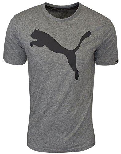 PUMA Men's Essential Big Cat Heather T-Shirt, Medium Gray Heather, M