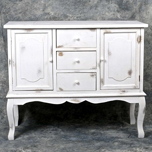 Chabby Chic Decor Style Wooden Dressing Table — Distressed White