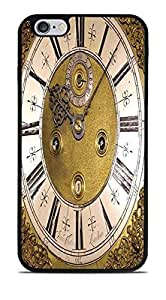 Steampunk Grandfather Clock Black Silicone Case for iPhone 6+ (5.5)