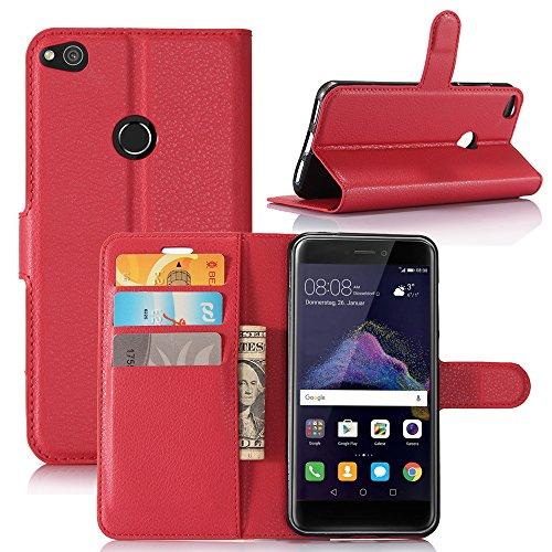 Manyip Funda Huawei P8 Lite(2017)/P9 Lite(2017),Caja del teléfono del cuero,Protector de Pantalla de Slim Case Estilo Billetera con Ranuras para Tarjetas, Soporte Plegable, Cierre Magnético(JFC5-9) A