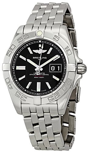 Breitling Men's A49350L2/BA07 Galactic 41 Black Dial Watch