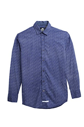English Laundry Sport Shirt, Navy (English Laundry Striped Shirt)