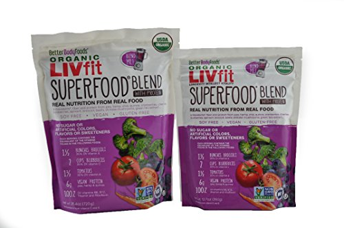 BetterBody Foods LIVfit Superfood Protein Blend 1080 Grams, 90 Day Supply Bundle