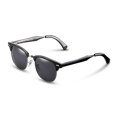 b52e53f85f098f verres Hommes Lunettes de soleil polarisées de conduite de panneau pour  hommes Caractère Lunettes de soleil rondes rétro de lunettes de soleil pour  femmes ...