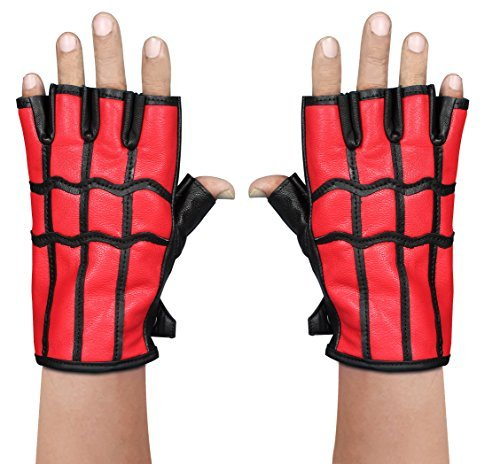 Costume Spiderman homecoming Spider-Man gloves REAL Leather Gloves (Medium) -