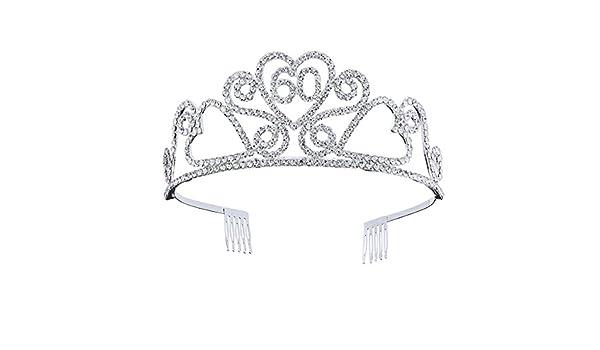 Beaupretty corona para cumpleaños 60 años diadema princesa ...