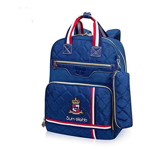 Classic children's bag cute casual backpack kids bag backpack(Royal blue F) by Yandam