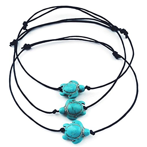 Price comparison product image RoseSummer 1Pcs Boho Foot Chain Beach Jewelry Turtle Turquoise Anklets