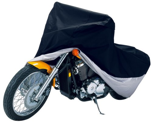 UPC 052963726473, Classic Accessories 72647 Deluxe Black/Silver Motorcycle Cover, Fits most touring bikes up to 1500cc, full dress