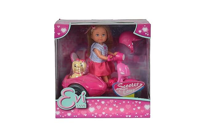 Amazon.com: Simba Smoby Evi Love Scooter Tour muñeca: Toys ...