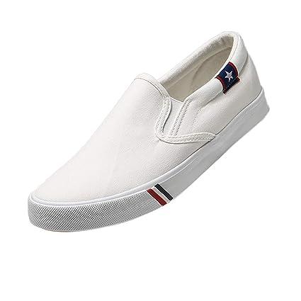 Baoblaze Zapatos Planos Unisex sin Corodnes Punta Redonda Mocasines de Lona Casuales EU 37-43