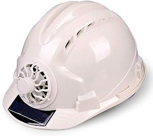 fayle Safety Helmet with Solar Powered Cooling Fan, Hard Hat Helmet, Construction Safety Helmet, Outdoor Cycling Helmet,Ventilate,Helmet for Sanitation Worker
