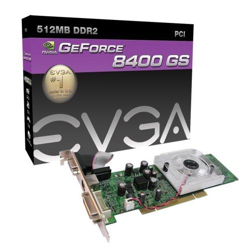 Tarjeta PCI EVGA nVidia e-GeForce 8400 GS 512 MB DDR2 (512-P1-N724-LR)