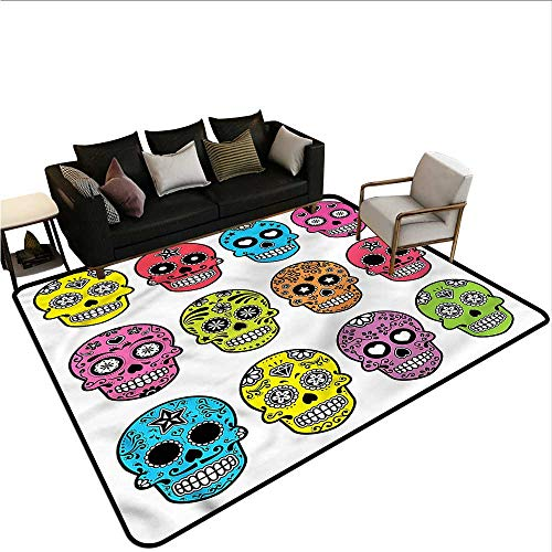 Skull,Floor Mat Entrance Doormat 60