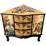 Oriental Furniture Enchanted Ladies Corner Cabinet