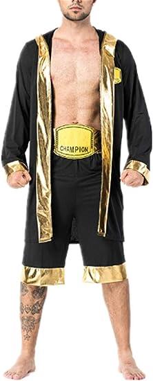 Mitef - Disfraz de bóxer para Hombre, campeón del Mundo, Bata de ...