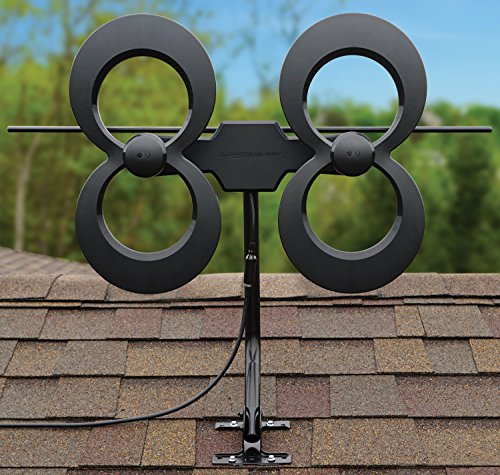 Antennas Direct ClearStream 4MAX TV Mile Range, Outdoor, 20-inch Pivoting All-Weather Hardware, -