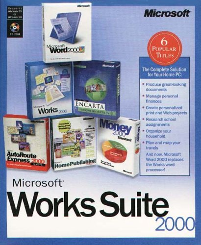 Brand New Microsoft Works 2000 For Windows