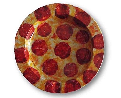 Pepperoni Pizza Design -Tin Ashtray (Zombie Pizza)