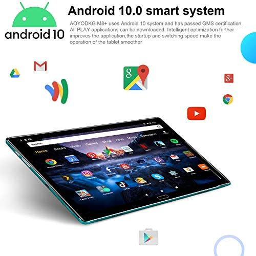 Android 10 Tablet 10.8 Inch, 5G WiFi |10 Cores 2.3Ghz, with Touch Keypad Foot Convertible Laptop, 4GB RAM + 64GB ROM/512GB Scalable Dual SIM 4G 8000mAh 8MP+16MP Dual GPS Bluetooth 5.0 Type-C (Green)