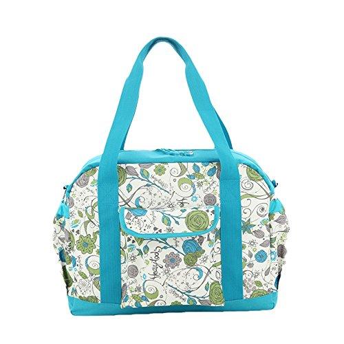 Mamá bolsa de múltiples funciones de gran capacidad de la madre materias del niño y del paquete madre del paquete de revestimiento oblicua cruz embarazada mujeres embarazadas bolsa ( Color : Azul ) Azul