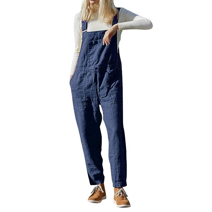 fantastische Einsparungen neue Kollektion Verkaufsförderung QIMANZI Latzhose Damen Jumpsuit mit Träger Retro Overalls ...