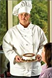 Fame Fabrics 81556 C1 EXECUTIVECHEF COAT FINE LINE WHITE MD