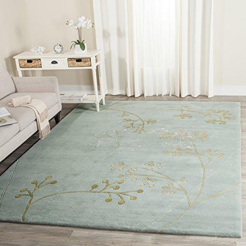 - Safavieh Soho Collection SOH305A Handmade Light Blue Premium Wool Area Rug (5' x 8')