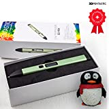 3D Pen by 3D PENTASTIC Professional 3D Printing Pen, Low Temperature 3D Pen for Kids, New Technology, Won't Clog, Safe for Kids, OLED Display Comes w/ 4 x PCL Filaments & 3D Drawing Templates