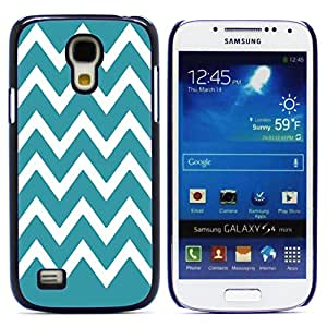 Graphic4You Chevron Pattern Design Hard Case Cover for Samsung Galaxy S4 Mini (Turquoise)