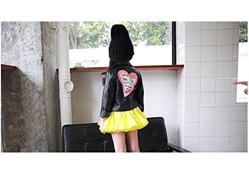 b2c469b35b28 LJYH Girls Leather Motorcycle Jacket Children s PU Love Coat