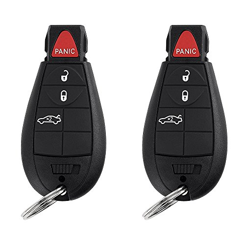 YITAMOTOR Keyless Entry Car Remote Control Replacement Key Fob 4 Button for M3N5WY783X IYZ-C01C (Pack of 2)