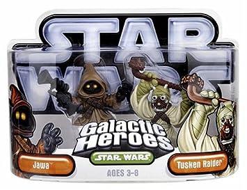 Hasbro 85395 Star Wars Galactic Heroes Mini-Figure 2 Pack Jawa /& Tusken Raider