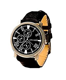 Asgard Analog Black Dial Men's Watch-GE-ROMANPOLO-02