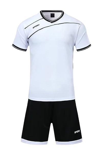KINDOYO Niño Hombres Ropa Deportiva Camiseta y Pantalones Cortos Conjunto de Entrenamiento de Equipo de Competencia de… Xmep9eCn2B