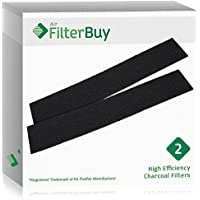 2 - FilterBuy Honeywell HRF-B2, Filter B Replacement Charcoal Filters. Designed by FilterBuy to be Compatible with Honeywell & Vicks Air Purifiers.