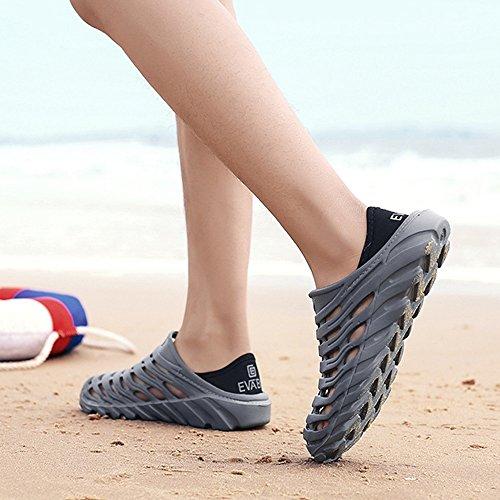 uomo giardino da spiaggia acqua Scarpe da casual da Scarpe da Sandali comode Gray 4nqZU6vxw