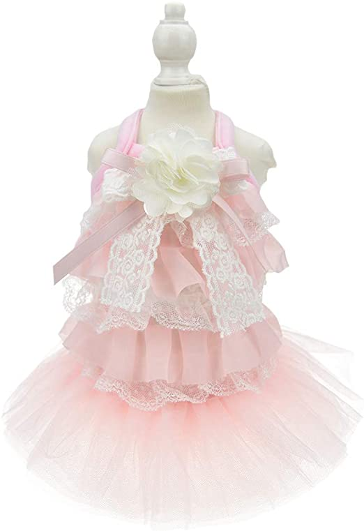 FLAdorepet Disfraz de Princesa Perro, Vestido de Novia, Gato ...