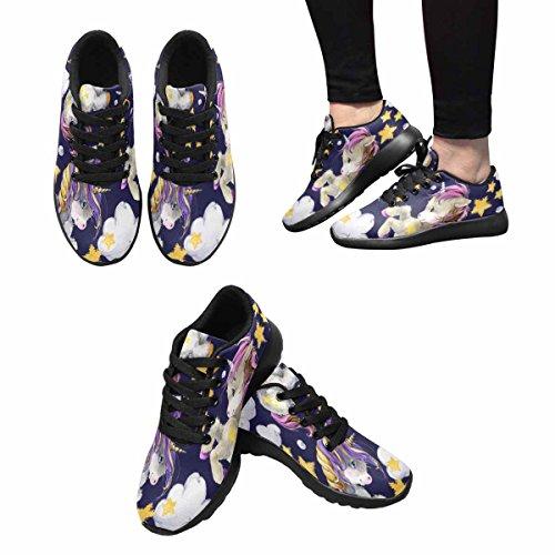 Interestprint Femmes Doux Sport Route Courir Chaussures De Marche Mignon Licorne Multi 1