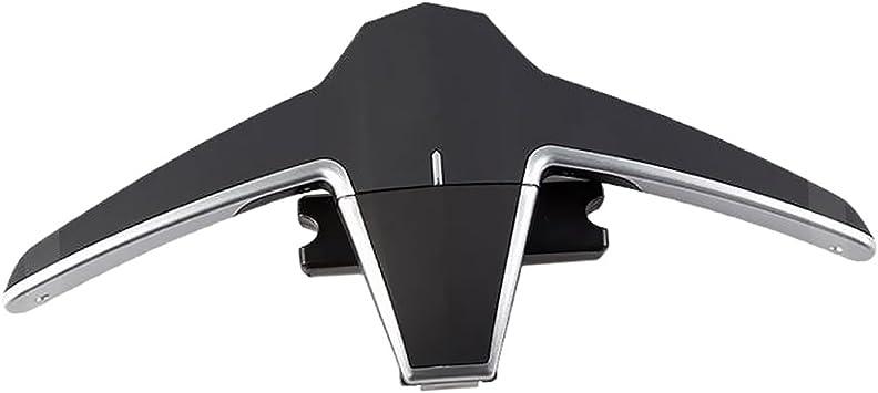 Almencla Car Back Seat Headrest Coat Folding Hanger Travel Vehicle Automotive Accessories Organizers Multi-Purpose Storage Suit Jacket Clothes Hook Black