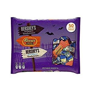 Hershey's and Reese's Halloween Assortment Snack Size - 50 CT