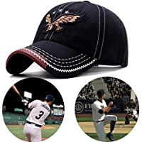 Baseball Caps for Men/Women - Sporting Baseball Hats with Adjustable Back closure - Sports Hats for Men -Perfect for Workouts, Running and Outdoor Activities (Black)